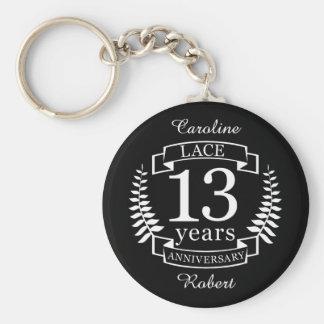 Traditioneller Hochzeitstag der Spitzes 13 Jahre Schlüsselanhänger