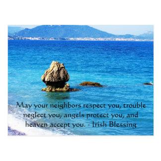 Traditioneller irischer Segen Postkarte