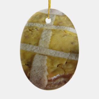Traditioneller italienischer Kuchen Pastiera Keramik Ornament