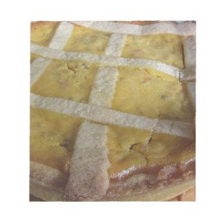 Traditioneller italienischer Kuchen Pastiera Notizblock