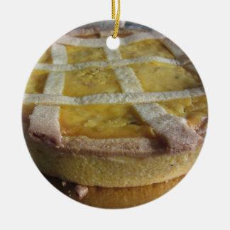Traditioneller italienischer Kuchen Pastiera Rundes Keramik Ornament
