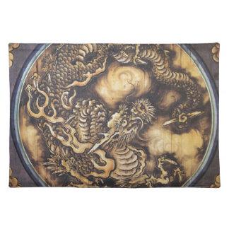Traditioneller japanischer orientalischer Drache - Stofftischset