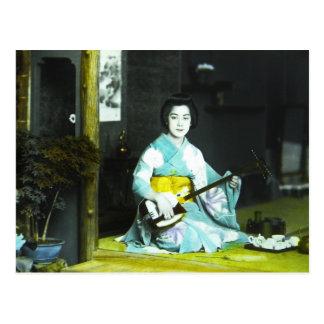 Traditioneller japanischer postkarte