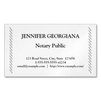 Traditioneller u. einfacher Notar Magnetische Visitenkarten