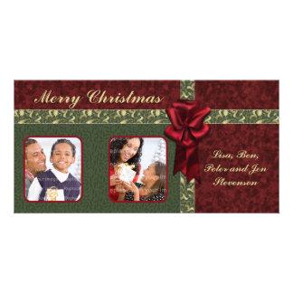 Traditioneller Weihnachtsentwurf Fotokarten