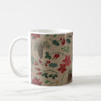 Traditionelles botanisches Weihnachten Kaffeetasse
