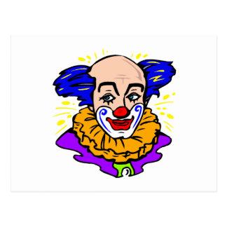 Traditionelles Clown-Gesicht Postkarte