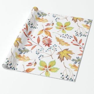 Traditionelles Herbst-Blätter-Verpackungs-Papier Geschenkpapier