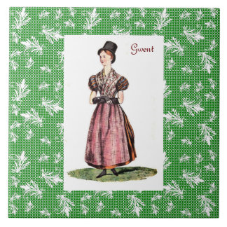 Traditionelles Kostüm Walisers - Gwent Fliese