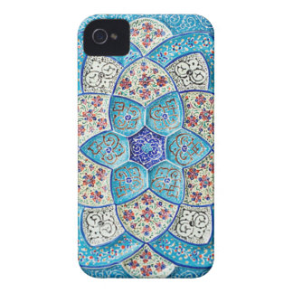 Traditionelles marokkanisches Türkis Blau, Weiß, Case-Mate iPhone 4 Hülle