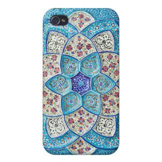 Traditionelles marokkanisches Türkis Blau, Weiß, Hülle Fürs iPhone 4