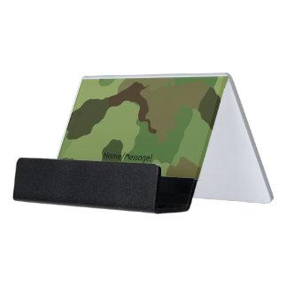 Traditionelles Militär tarnt Schreibtisch-Visitenkartenhalter