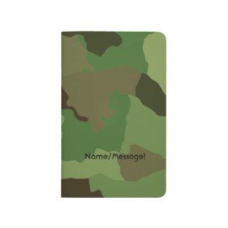 Traditionelles Militär tarnt Taschennotizbuch