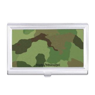 Traditionelles Militär tarnt Visitenkarten Dose