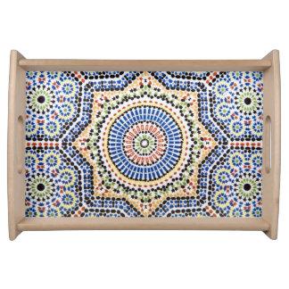 Traditionelles Portugiese Azulejo Fliesen-Muster Tablett