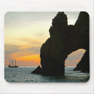 Traditionelles Segelboot am Sonnenuntergang, Cabo Mousepad