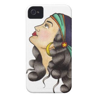 Traditionelles Tätowierungs-Blitz-Sinti und Roma iPhone 4 Hüllen