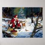Traditionelles Weihnachten Sankt im Park Poster
