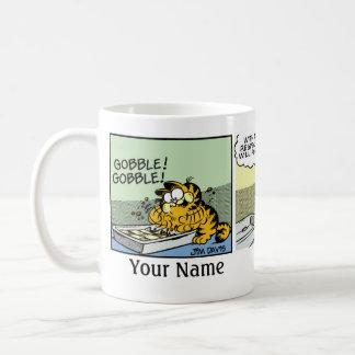 """""""Traf nie eine Lasagne-"""" Garfield-Comic-Streifen Tasse"""