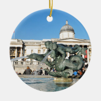 Trafalgar-Platz in London, Großbritannien Rundes Keramik Ornament