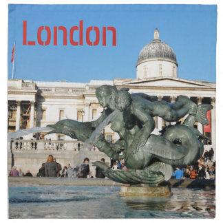 Trafalgar-Platz in London, Großbritannien Stoffserviette
