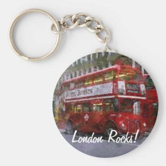 Trafalgar-Platz-roter doppelstöckiger Bus, London, Schlüsselanhänger