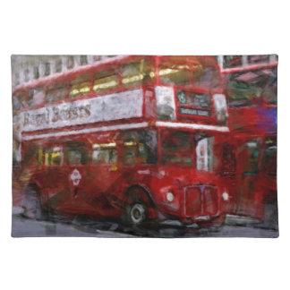 Trafalgar-Platz-roter doppelstöckiger Bus, London, Tischset