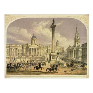 Trafalgar-Platz, veröffentlicht von Dickinson Postkarte