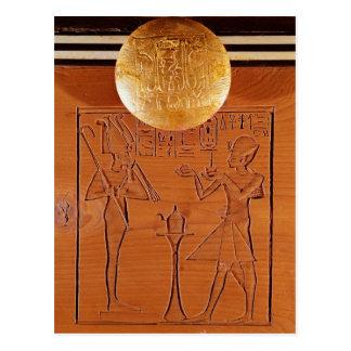 Tragbarer Kasten, Detail von Tutankhamun Postkarte