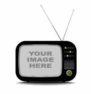 Tragbares Retro Fernsehen Freistehende Fotoskulptur