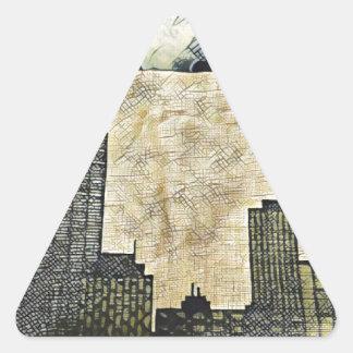 Tragen der Stadt Dreieckiger Aufkleber