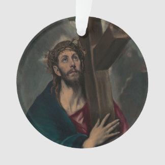 Tragen des Kreuzes Ornament