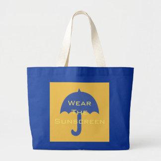Tragen Sie das Lichtschutz-Strand-Ferien-blaue Jumbo Stoffbeutel
