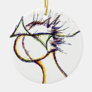 Tragen Sie den Feuer-Verstand vorbei ein: Helle Keramik Ornament