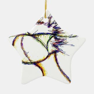 Tragen Sie den Feuer-Verstand vorbei ein: Helle Keramik Stern-Ornament