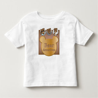 Tragen Sie Detektivlogo u. Gesichter feinen Kleinkind T-shirt