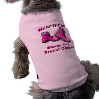 Tragen Sie es rosa Briefmarken-heraus Brustkrebs Shirt