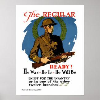 Tragen Sie für die Infanterie ein -- WWI Poster