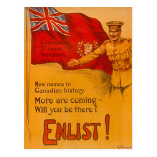 Tragen Sie für Kanada ein! Postkarte