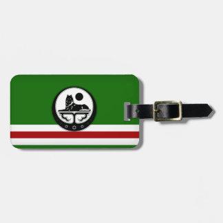 Tragen Sie Gepäcketikette für die tchetchenischen Kofferanhängern