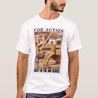 Tragen Sie im Fluglinienverkehr ein T-Shirt