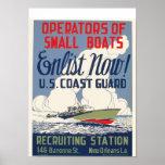 Tragen Sie jetzt ein! US Küstenwache Poster