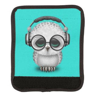 Tragende Kopfhörer niedliche Baby-Eulen-DJ Gepäckgriff Marker