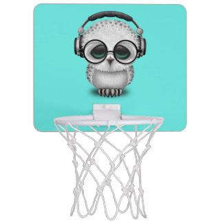Tragende Kopfhörer niedliche Baby-Eulen-DJ Mini Basketball Ring