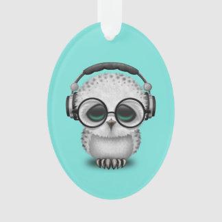 Tragende Kopfhörer niedliche Baby-Eulen-DJ Ornament