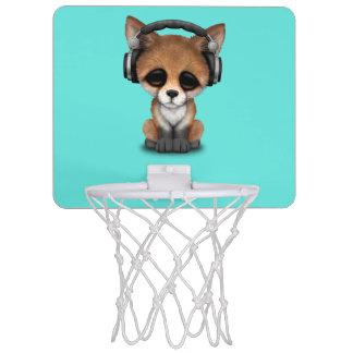 Tragende Kopfhörer niedliches BabyFox Mini Basketball Ring
