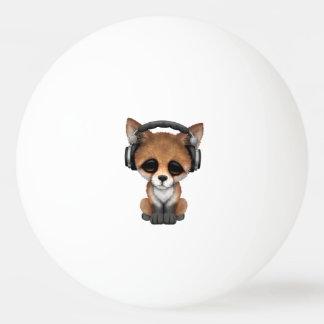 Tragende Kopfhörer niedliches BabyFox Tischtennis Ball