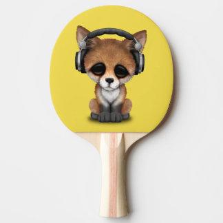 Tragende Kopfhörer niedliches BabyFox Tischtennis Schläger