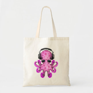 Tragende Kopfhörer rosa Baby-Kraken-DJ Tragetasche