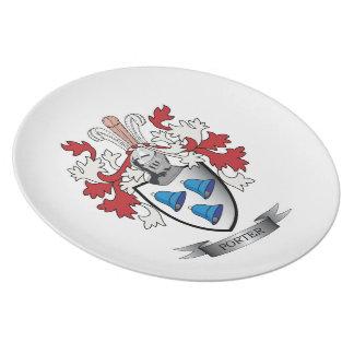 Träger-Familienwappen-Wappen Melaminteller